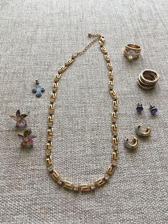 Бижутерия (колье, подвеска, кольца, серьги) Swarovski, Avon