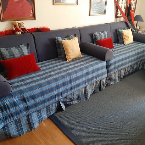 2 camas de solteiro completas estilo Navy