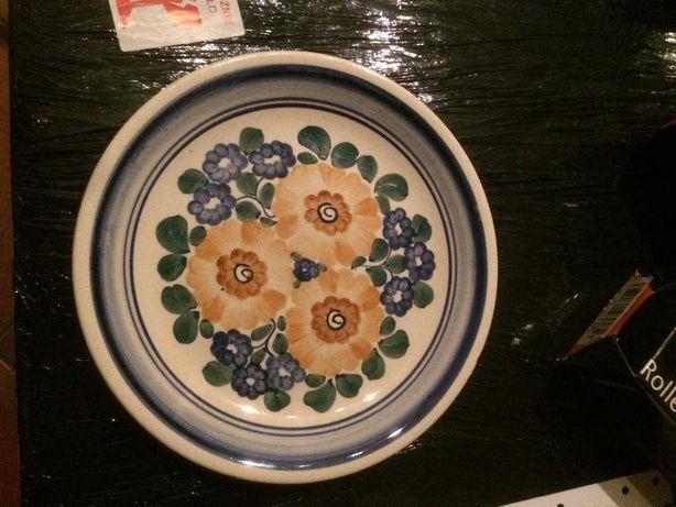 2 duże duże talerze fajans Włocławek średnica 24 cm
