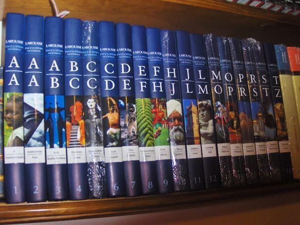 ENCICLOPÉDIA Moderna Larousse - 18 volumes, NOVOS
