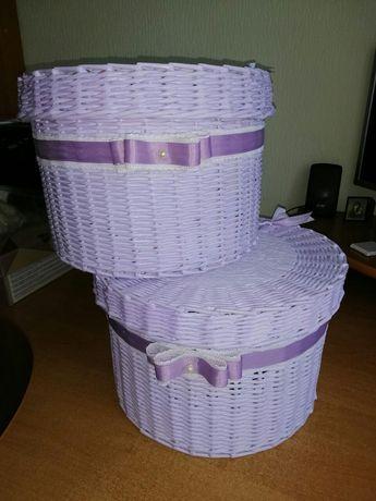 Корзинки ручной работы,диаметр корзины- 28см,высота корзины -19 см
