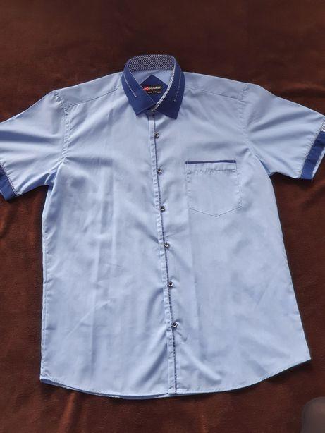 Koszula niebieska L 40/41 Slim