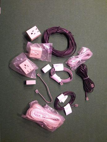 Kabel telefoniczny z przejściówkami