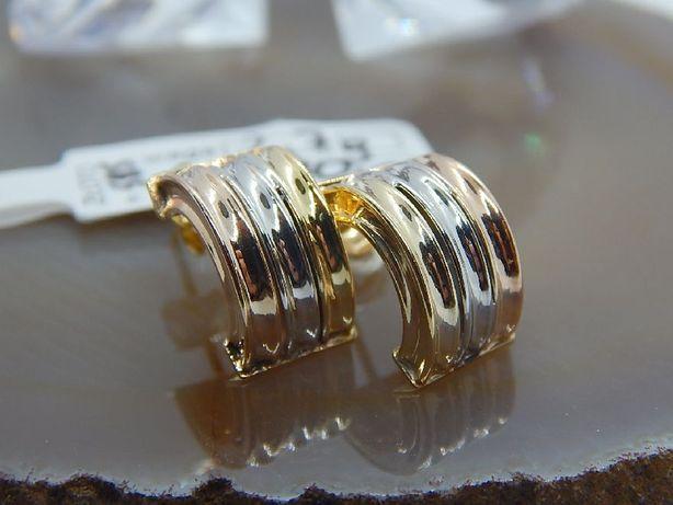 złote kolczyki kolorowe na sztyft pr 585 (14) waga 2,7 g