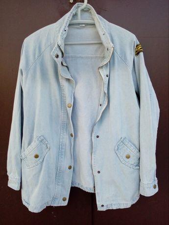 удлененный джинсовый пиджак