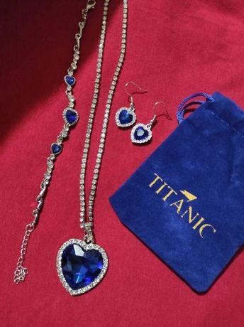 Zestaw biżuterii posrebrzanej Titanic