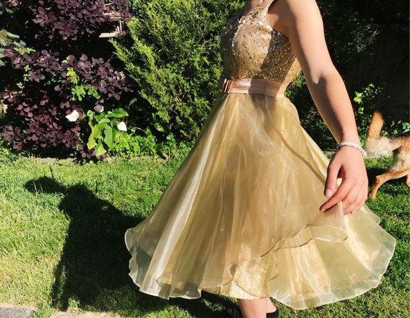 Vestido Cerimónia dourado