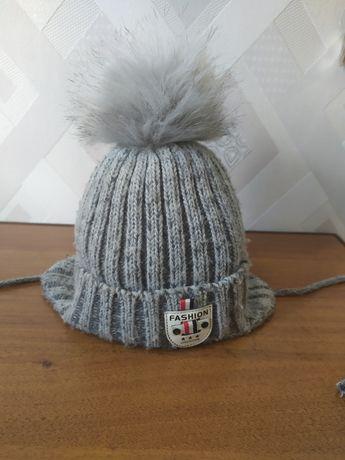 Продам зимнюю шапку с хомутом!