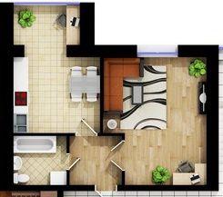 Продам, Центр міста,1-но кімнатна новобудова
