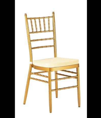 Wyanajme krzesła na ślub złote Chiavari, Glamour