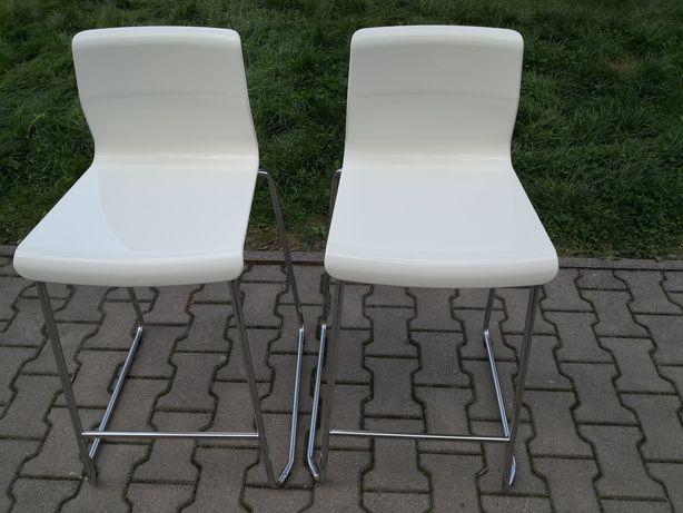 Hoker IKEA GLENN Stołek barowy, 4szt, biały, chrom, 66 cm