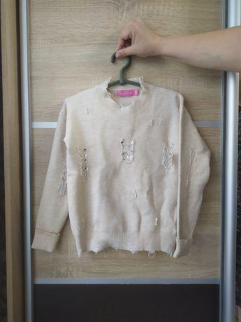Стильный свитерок на девочку 9-10 лет