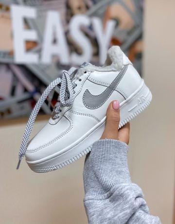 Зимние кроссовки найк аир форс мужские Nike Air Force Reflective зима