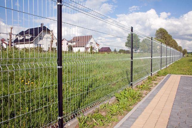 Ogrodzenia panelowe panele ogrodzeniowe Panel 153 fi 4 z montażem