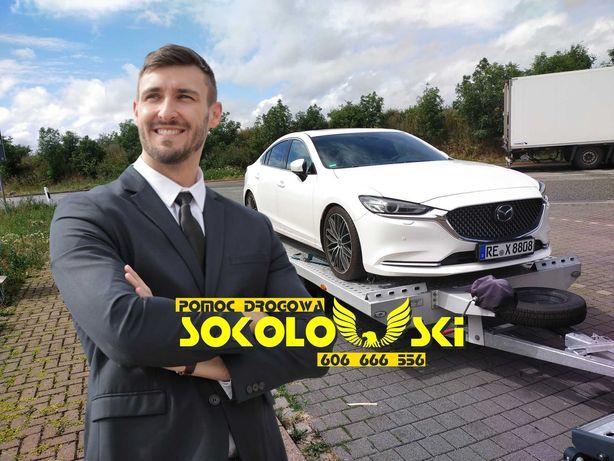 POMOC DROGOWA Częstochowa 24 Laweta AutoLaweta Holowanie Transport Aut