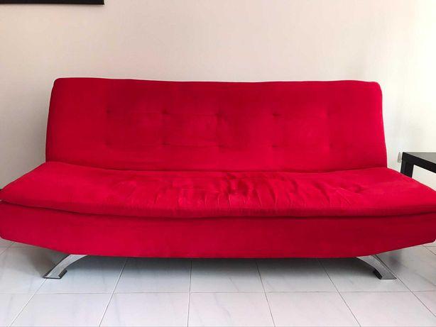 Vendo sofá vermelho