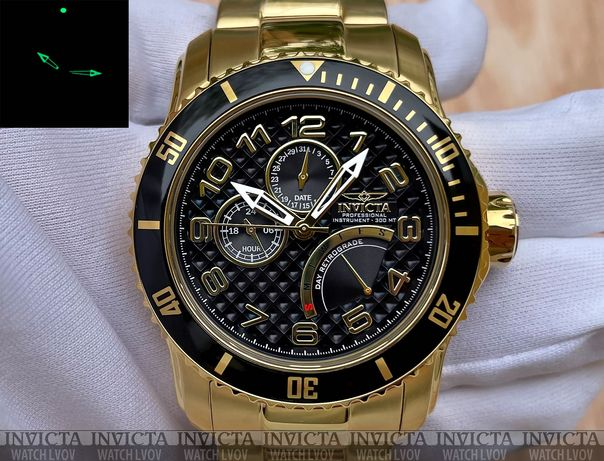 Мужские часы Invicta 15341 Pro Diver Retrograde Gold 48 mm. 300 mt.