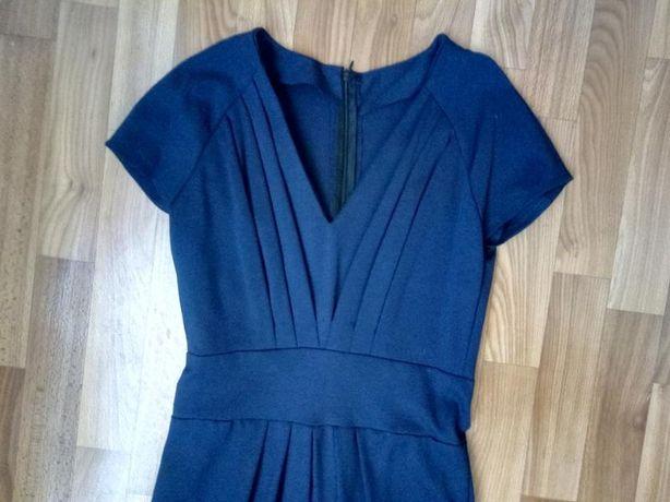 Платье футляр темно-синее