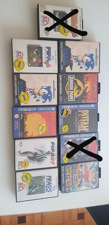 Vários jogos para mega drive