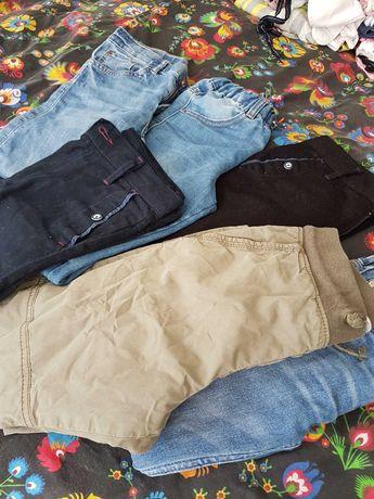 Paka spodni 122 H&M i inne 6 par