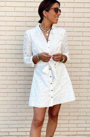 Vestido bordado Zara