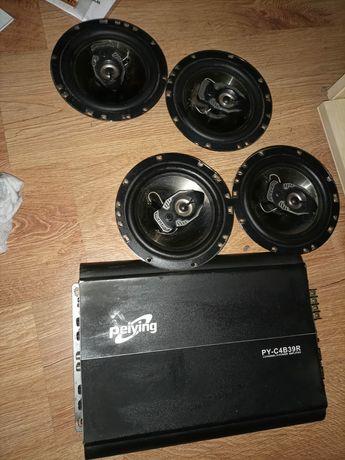 Głośniki samochodowe ze wzmacniaczem