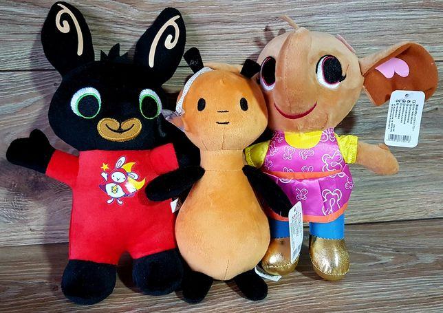 Komplet 3 maskotek pluszaki z bajki Bing Nowe