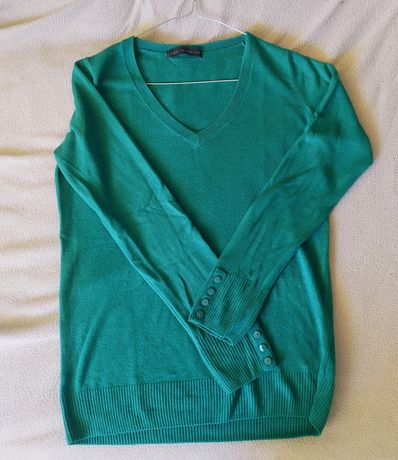 Zielony sweter Marks & Spencer rozmiar M