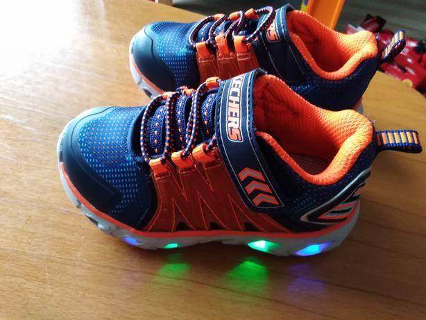 Skechers butki sportowe dla dziecka świecące 23/13.5cm