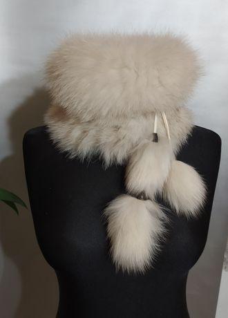 Хутряна шапка кролик