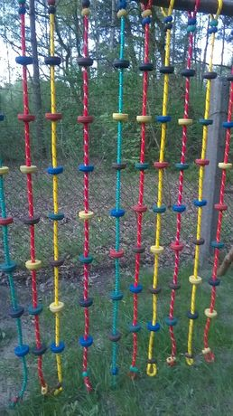 lina do wspinaczki wspinaczkowa małpi gaj plac zabaw 7 stopni 16 mm