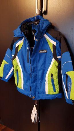 BRUGI chłopięca kurtka zimowa z kapturem 122 - 128