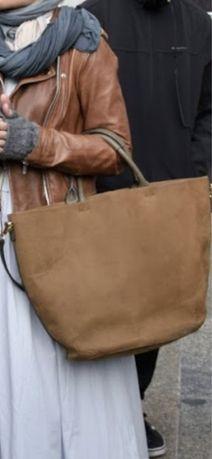 Torba skorzana torebka shopper Zara