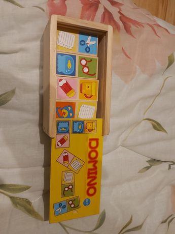 Domino drewniane 28 elementow