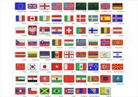 Нашивки патчи шевроны флаги США Англия Германия Италия ЕС Украина