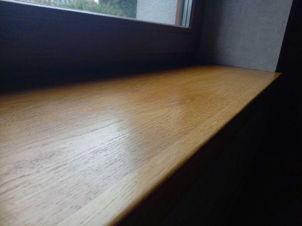Drewniany parapet dębowy