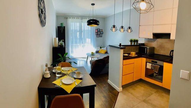Nowe osiedle salon z aneksem + sypialnia 44m2 | Glogera Prądnik Biały