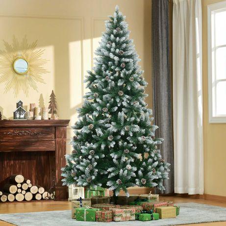 Árvore de Natal Artificial Ø105x210cm com 1440 pontas de PVC 75 Pinhas