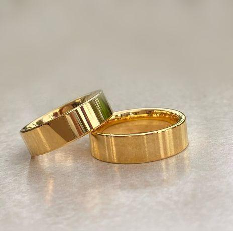 Gustowna Para Złotych Ślubnych Obrączek