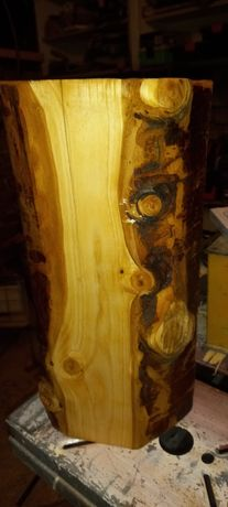Świecznik drewniany