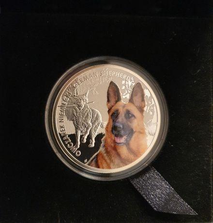 Moneta owczarek niemiecki, 1 dolar, Seria: Przyjaciele Człowieka – Psy