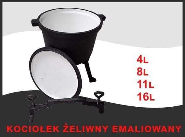 Kociołek żeliwny emaliowany 4L