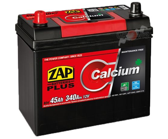 Akumulator 12V 45Ah 340A L+ CalciumPlus ZAP SZNAJDER Japończyk Japan