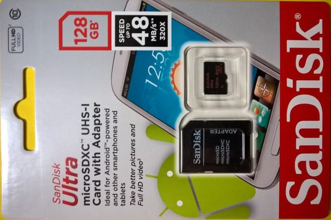 SanDisk Ultra 128GB microSDXC Memory Card With Adapter