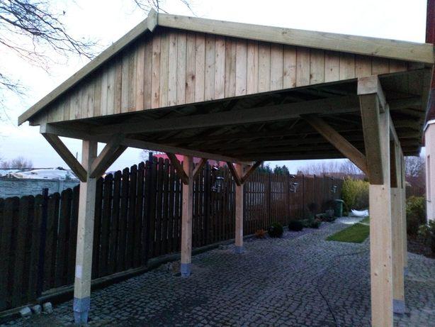 Wiata Carport Zadaszenie Drewutnia Altana drewniana Żary Lubuskie