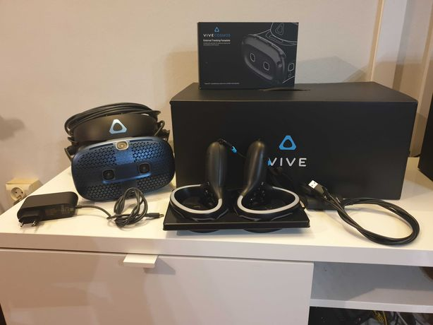Gogle VR HTC Cosmos jak nowe (na gwarancji) + głowica do wersji Elite