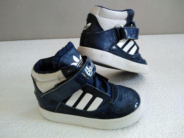 Granatowe Adidas za kostkę 21 UK 3