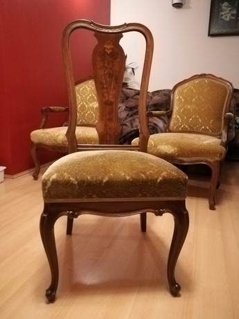Komplet 6 krzeseł styl królowej Anny, Queen Anne, jadalnia, salon