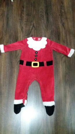 Новогодний человечек Костюм Санта Клауса 6-9 месяцев