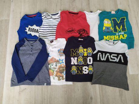 Bluzy/ bluzki/ koszulki chłopięce 110-116 Psi Patrol Minionki Nasa